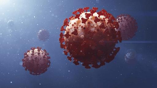 Bild på virus för att symbolisera covid-19